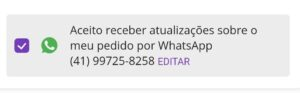 rastrear pelo whatsapp