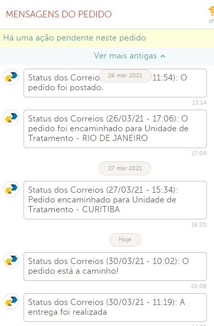 acompanhar pedido elo7 pelo site mensagens do pedido