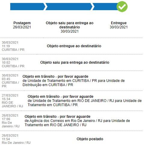 rastrear pedido elo7 pelo site rastreio no site dos correios